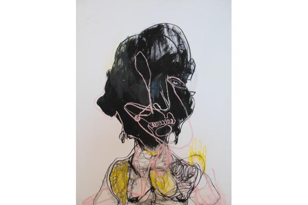 Dessin Caroline Demangel. Sans titre. Technique mixte sur papier 65 x 50