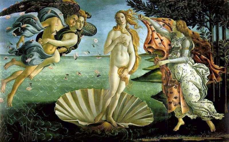 Venus de Botticelli - Galerie des Offices