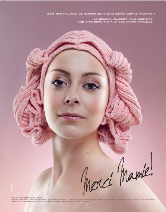Affiche cancer pour Rose Magazine par TBWA