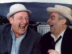 Eclat de rire Louis de Funès et Bourvil